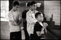 These children are learning to have faith in God in all circumstances.